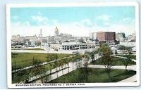 *Business Section City View Park Skyline Denver Colorado Vintage Postcard B71