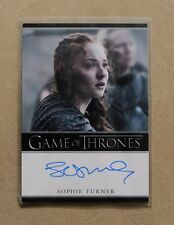 GAME OF THRONES SEASON 7 - TRADING CARD SOPHIE TURNER AUTOGRAPH CARD