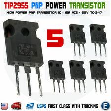 5pcs Tip2955 Power Transistor Pnp 60v 15a To 247 Bipolar Audio Usa