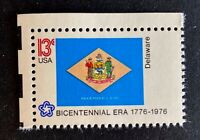 US Stamps, Scott #1633 13c State Flags: Delaware XF M/NH. PO fresh.