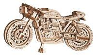 WOODEN CITY® Café Racer, 3D Holzpuzzle Holzmodellbau Modellbausatz, Gummimotor!
