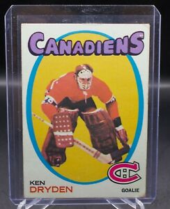 Ken Dryden 1971/1972 Topps Rookie Card RC #45 Refer to Photos