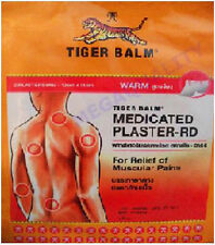 BIG SIZE TIGER BALM PATCH PLASTER WARM MEDICATED PAIN RELIEF 2 pcs.(10x14 cm.)