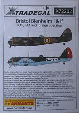 Xtradecal 1/72 X72202 Bristol Blenheim Mk I + IF Decal set