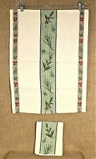 NWOT~Set of 2 TAG Brand Christmas Winter Kitchen Towels Green & Red Jacquard