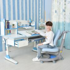 Kids Study Desk Ergonomic design/ Children Table Height Adjustable w/ bookshelf