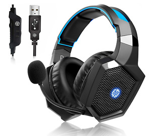HP Wired Headset with LED Mic Over-ear Gaming Headphone Stereo Headphone for PS4
