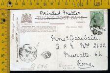 India Cover busta to Italy Q 676 postcard  vie di mare navigazione sea post