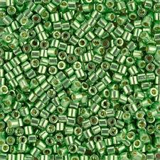Miyuki Delicas 8/0 Seed Beads DBL-1844 Duracoat Galvanized Green 6.8g (J97/8)