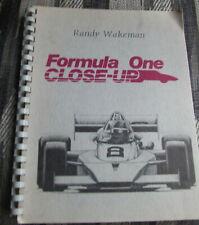 Formula One Close Up Book Randy Wakeman 1985 first ed
