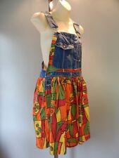 Vintage Re Denim Overalls Dress Jeans Hillbilly Retro Diy Remade Usa Beach Boho