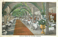 OLD DB Postcard AH B646 Glenwood Mission Inn Riverside California Dining Room
