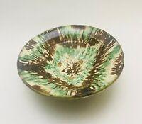 Antique Folk Art Primitive Redware Pottery Fruit / Serving Bowl - John Bell