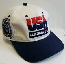 USA Basketball 1994 FIBA World Championships Hat Vintage Snapback White Blue