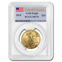 2015 1/2 oz Gold American Eagle MS-70 PCGS (FS) - SKU #86101