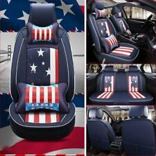 Deluxe Car Seats Cover Protector Cushion+Pillow 5-Sit Universal Stars and Strips