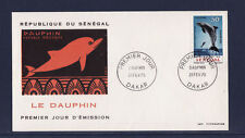 ASg/ Sénégal  enveloppe  1er jour   faune  dauphin     1970
