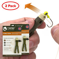 Tyepro Original Fishing Knot Tying Tool (Pack of 2); Clinch, Palomar, More