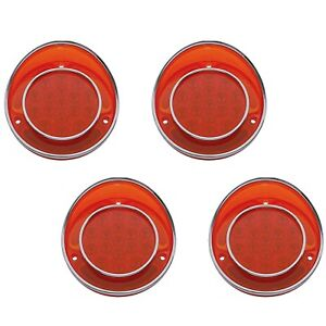 68 1968 Chevy Corvette Red LED Rear Tail Light Turn Signal Lamp Lens Trim Set 4
