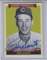2009 Goudey Sport Royalty Authentic Autograph On Card Ron Santo Chicago Cubs HOF