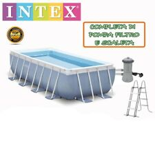 PISCINA FUORITERRA RETTANGOLARE INTEX PRISMA 488x244x107 CM + SCALETTA E FILTRO