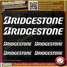 6 Stickers Autocollant Bridgestone sponsor échappement lot planche sticker decal