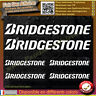 6 Stickers Autocollant Bridgestone sponsor échappement lot planche sticker decal
