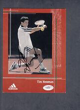 Tim Henman Autographed 6x8 Adidas Tennis Advertisement card JSA COA