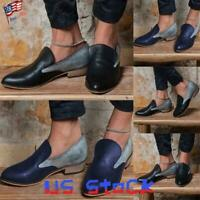 Women's Casual Loafers Slip On Low Heels Ladies Dress Shoes Color Block Party US