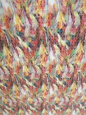 Jacquard Fabric 0,5 m yellow red green 14,60€/m Cotton - Per Metre Fabric Decor