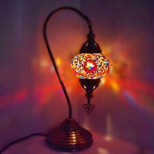 Coloré Turkish Bureau Lampe de Table Verre Mosaïque Ce Et GB Certifié