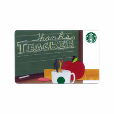 Lot of 20 Thanks Teacher (2013) Appreciation Collectible Starbucks Gift Cards