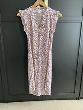 H&M Camiseta Floral Vestido Talla 34 Reino Unido 8/10