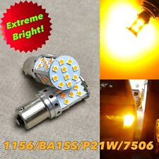 Front Turn Signal 1156 BA15S 7506 3497 P21W SMD JP SMD LED Bulb Amber W1 JAE