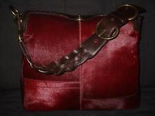 COACH LTD ED CHELSEA RED WINE BURGUNDY PONY HAIRCALF HOBO SHOULDER BAG PURSE WOW
