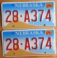 Nebraska 2002 HAMILTON COUNTY License Plate PAIR # 28-A374