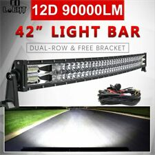 "12D 32'' 42"" 50'' 52'' Led Light Bar Spot Flood Beam Driving 4x4 Offroad 12V 24V"