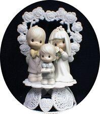 Wedding Cake Topper Precious Family Bride Groom Son Child Figurine Porcelain