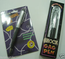 ELECTRIC SHOCK BALL POINT PEN GADGET GREAT GIFT & PRANK ***NEW***