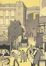Birmingham, UK, in 1920s, A4 Art Deco, Cityscape, Print