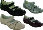 BRAND NEW LADIES FLAT STRAP BALLERINA LEATHER LINING SHOES SIZE 3 4 5 6 7 8