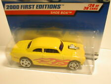 Hotwheels 2000 First Editions #26  SHOE BOX yellow with flames 1950 Ford