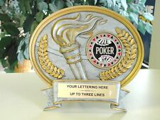 NEW HOLD EM POKER RESIN AWARD PLATE LARGE TROPHY VERY NICE!