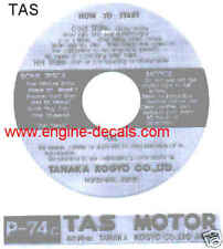TAS Tanaka engine decal Little Petro and other Minibike