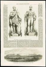 1868 - LONDON ROYALTY WESTMINSTER HALL KINGS STATUES JAPAN HIOGO PORT  (172)
