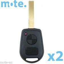 2 x BMW 2 Button Key Remote Case/Shell/Blank 3-5-7 SERIES X3/X5/Z4/E38/E39/E46