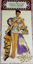 Celebrity Carmen Miranda Paper Doll & 4 Dresses Fun In Original Package