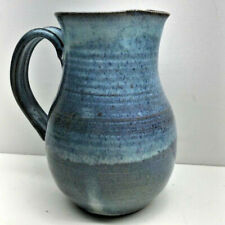VINTAGE CLAY POTTERY WITH GRADUATED BLUE COLOR PITCHER - SIGNED AVAKIAN?