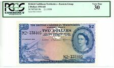 British Caribbean Territories ... P-8b ... 2 Dollars ... 1958 ... *VF+*  PCGS 30