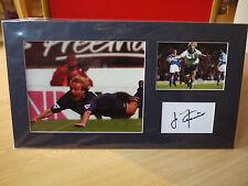 Mounted Jurgen Klinsmann Signed Card & Photo Display - Spurs & Germany Football